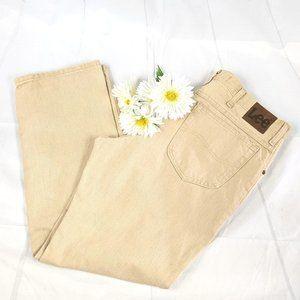Lee Tan/Khaki Regular Fit Straight Leg Jeans 38x30